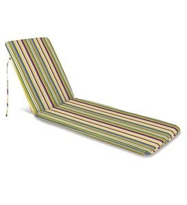 "Sale Polyester Classic Chaise Cushion With Ties, 77""x 23½""x 2½""hinged 47½""from bottom"