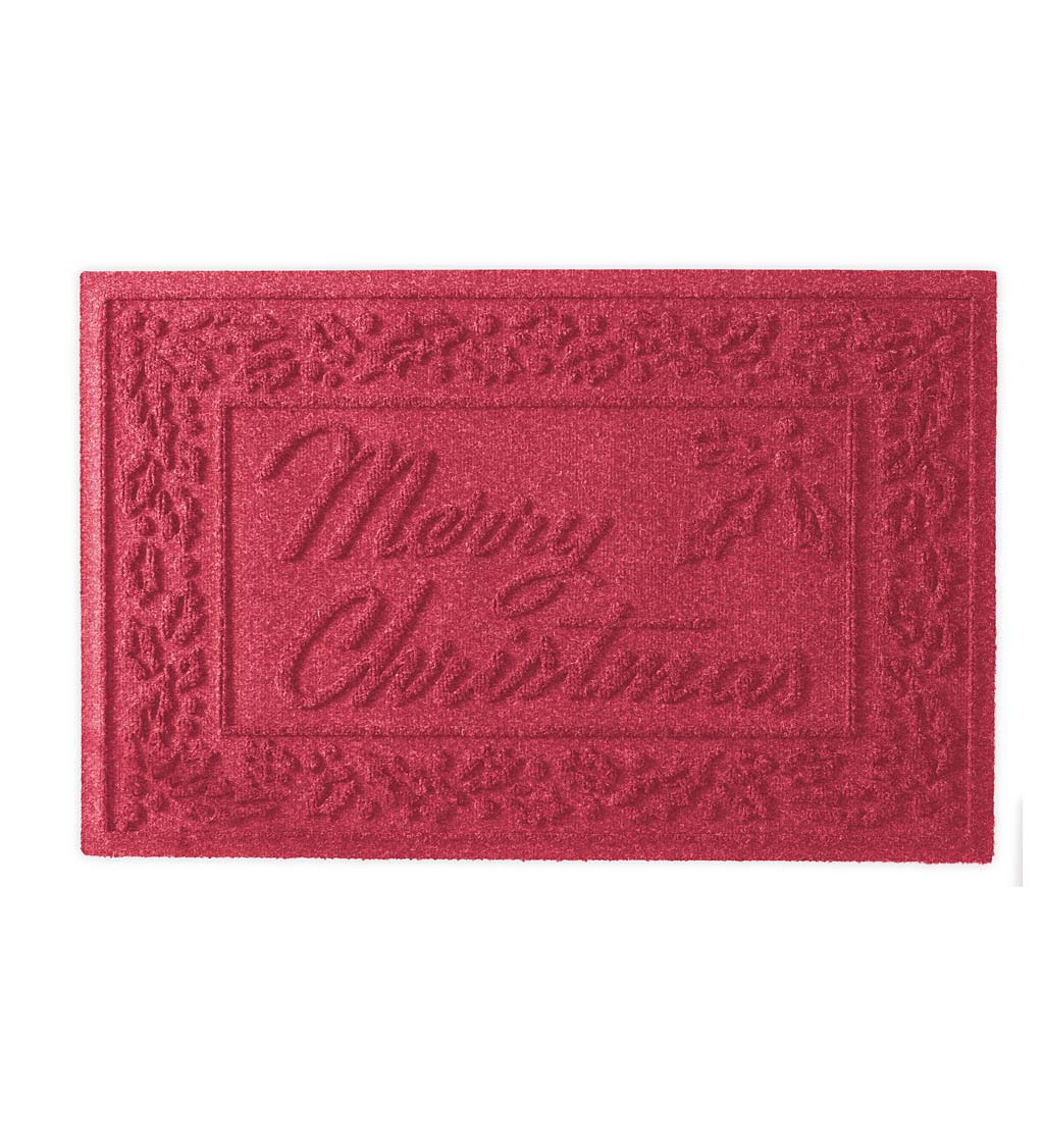 Waterhog Merry Christmas Doormat, 2' x 3' swatch image