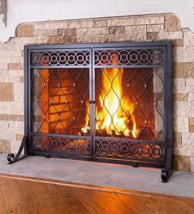 East Bay Fireplace Screen with Doors