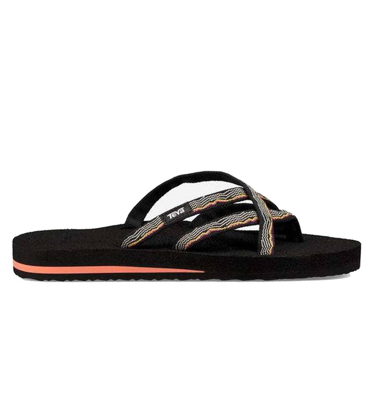 b852e961f Teva Women s Mush Olowahu Flip Flops - Black - Size 6