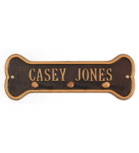 Personalized Leash Holder - Black with Gold