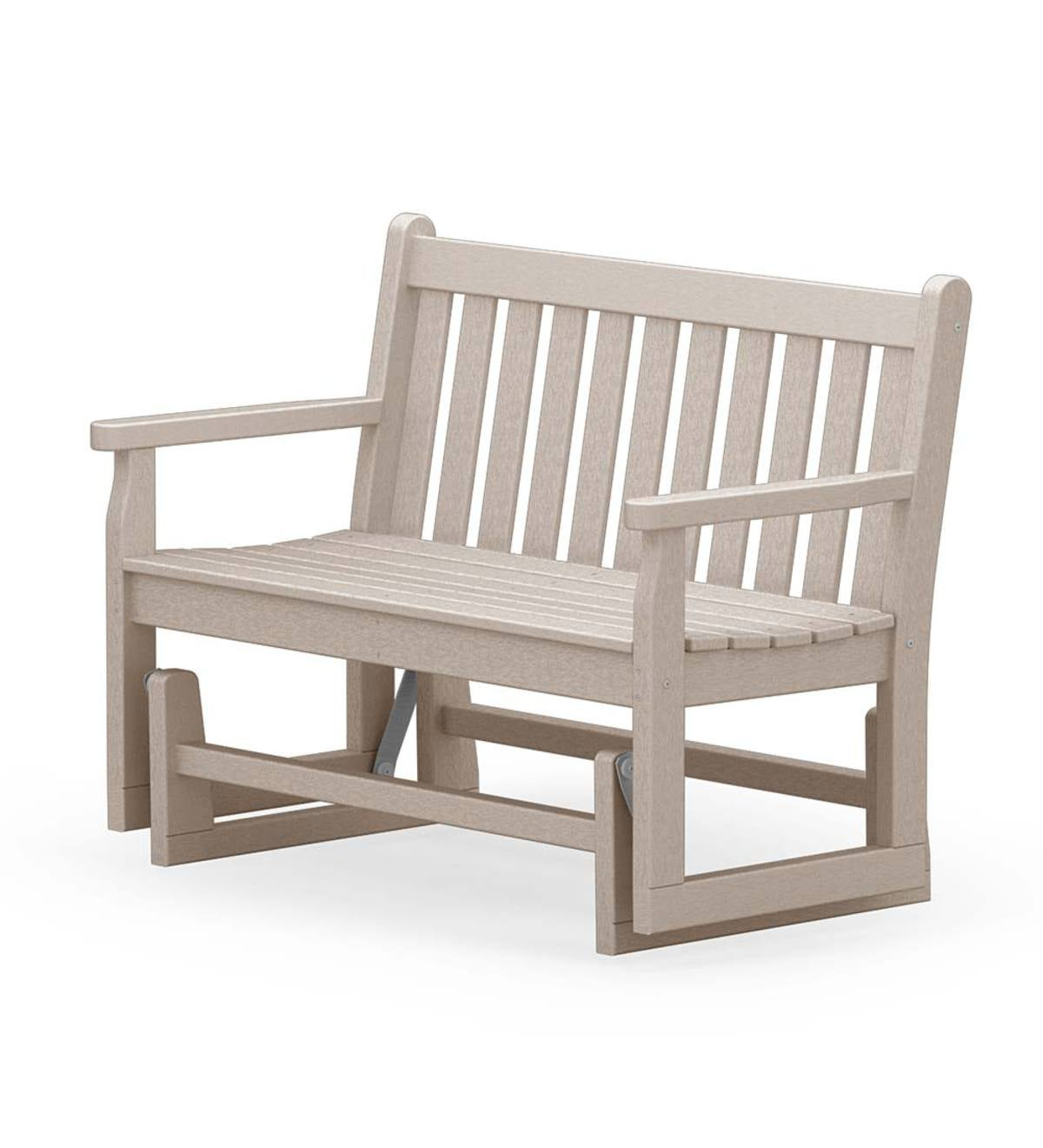 Picture of: Polywood Outdoor Glider Bench Black Plowhearth