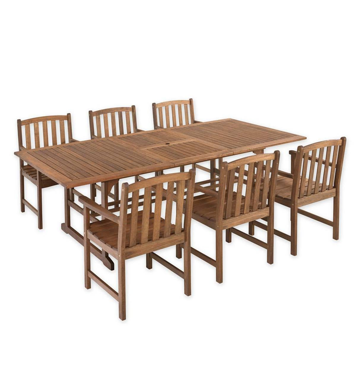 Lancaster Extension Table Set, Extension Table and 6 Chairs - Natural