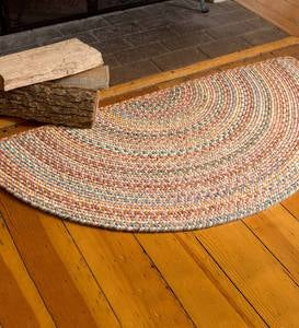 Blue Ridge Half Round Wool Braided Rug, 2' x 4'
