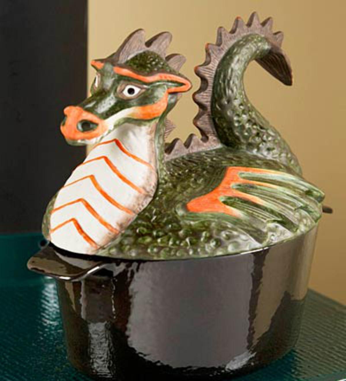 Handpainted Dragon Steamer Dragon Plowhearth