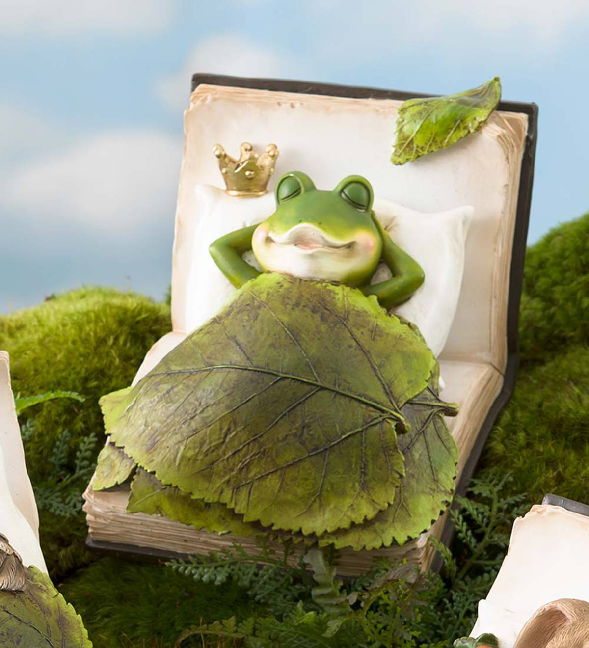 Marvelous Book Dreamer Sleeping Animal Garden Statue Frog Plowhearth Ocoug Best Dining Table And Chair Ideas Images Ocougorg