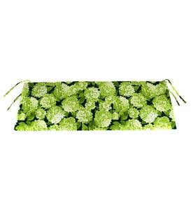 "Polyester Classic Swing/Bench Cushion, 48""x 19""x 3"" - Forest Hydrangea"