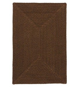 Bear Creek Rectangular Braided Wool Blend Rug