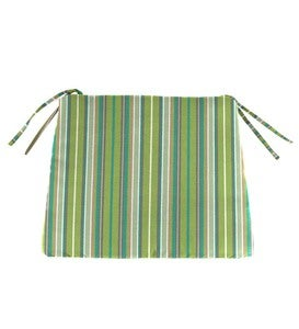 "Sunbrella Classic Chair Cushion With Ties, 19¾"" x 17½"" x 3"" - Cherry Stripe"