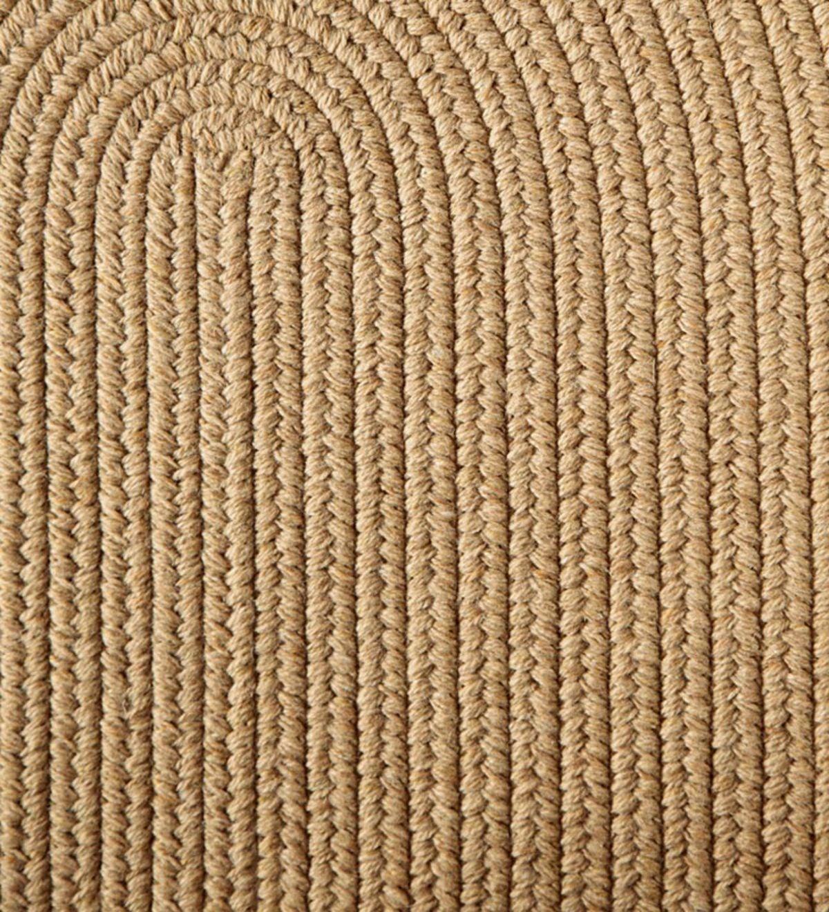 Blue Ridge Wool Oval Braided Rug, 8' X 11'