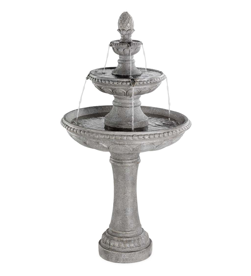 Three-Tier Outdoor Water Fountain with Pineapple