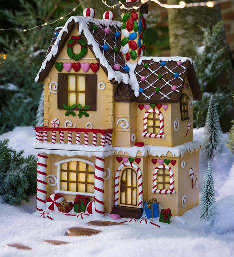 Lighted Victorian Gingerbread Fairy House