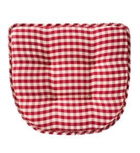 Non-Slip Gingham Chair Pad - Green