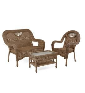 Prospect Hill Wicker Settee Set