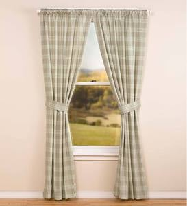 Plaid Rod Pocket Curtains