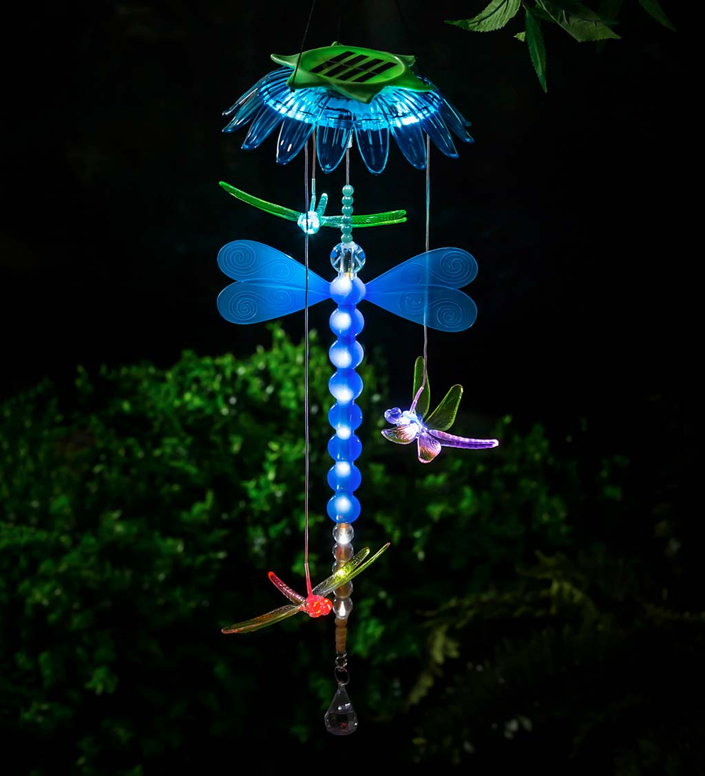 Solar Color Changing Chasing Light Pollinator Mobile
