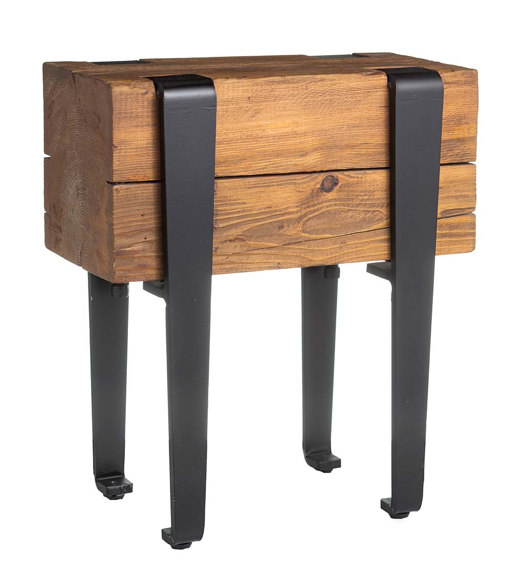 Youngstown Foundry Reclaimed Wood Stool