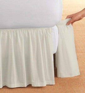 "Full Gathered Detachable Bed Skirt, 14""Drop"