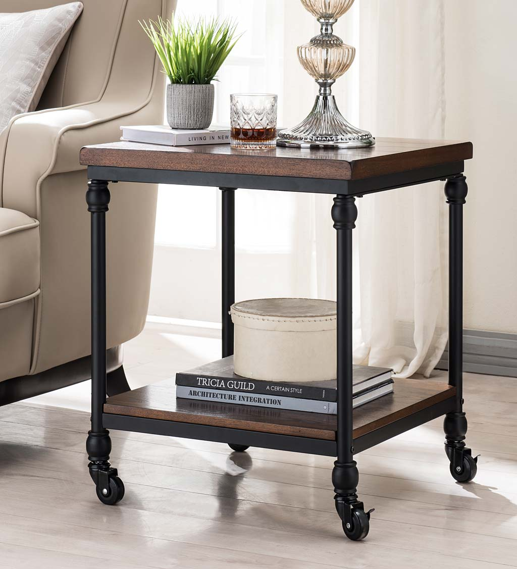 Convington Side Table with Power Outlets and USB Charging Ports