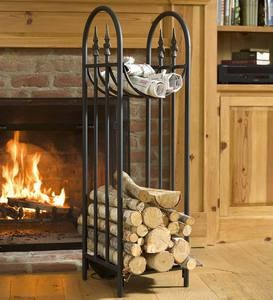 Hearthside Finial Log Rack