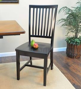 Schoolhouse Antiqued Hardwood Slat Back Chair