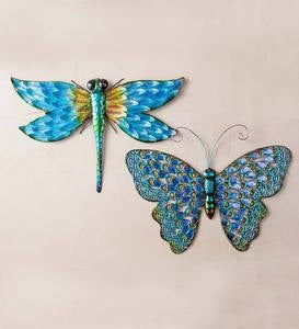 Iridescent Metal Butterfly Wall Art