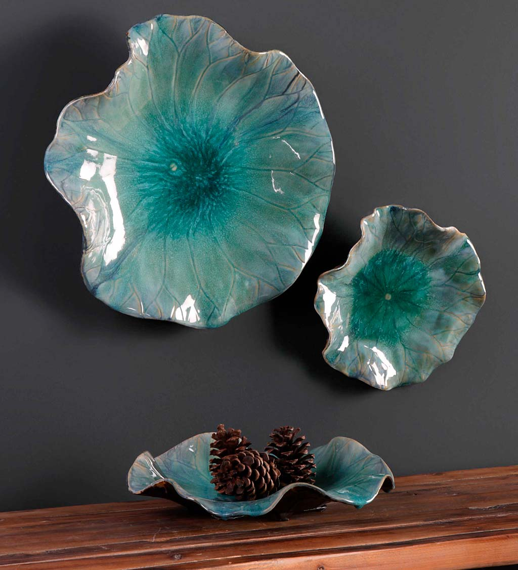 Set of Three Ceramic Blooms