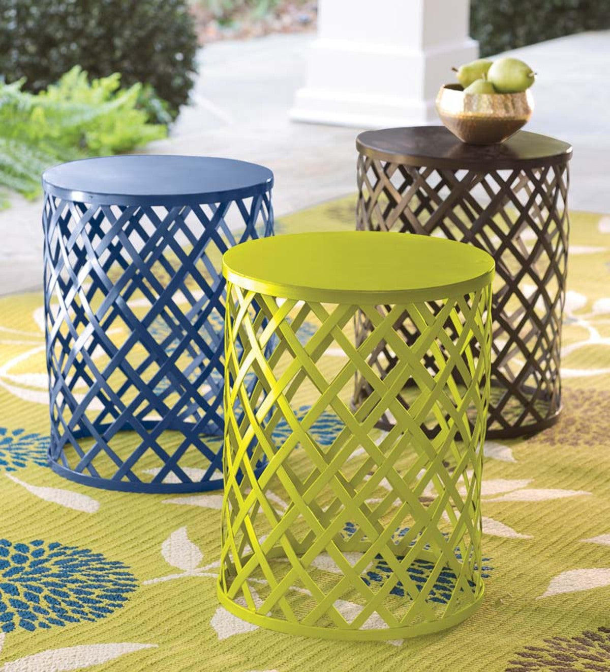 Metal Lattice Side Table