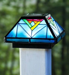 Artisan Glass Solar Post Cap Light