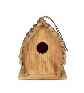 Handcrafted Wood Dew Drop Bird House