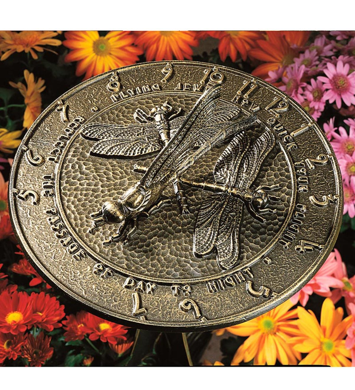 Made in America Recycled Aluminum Dragonfly Sundial