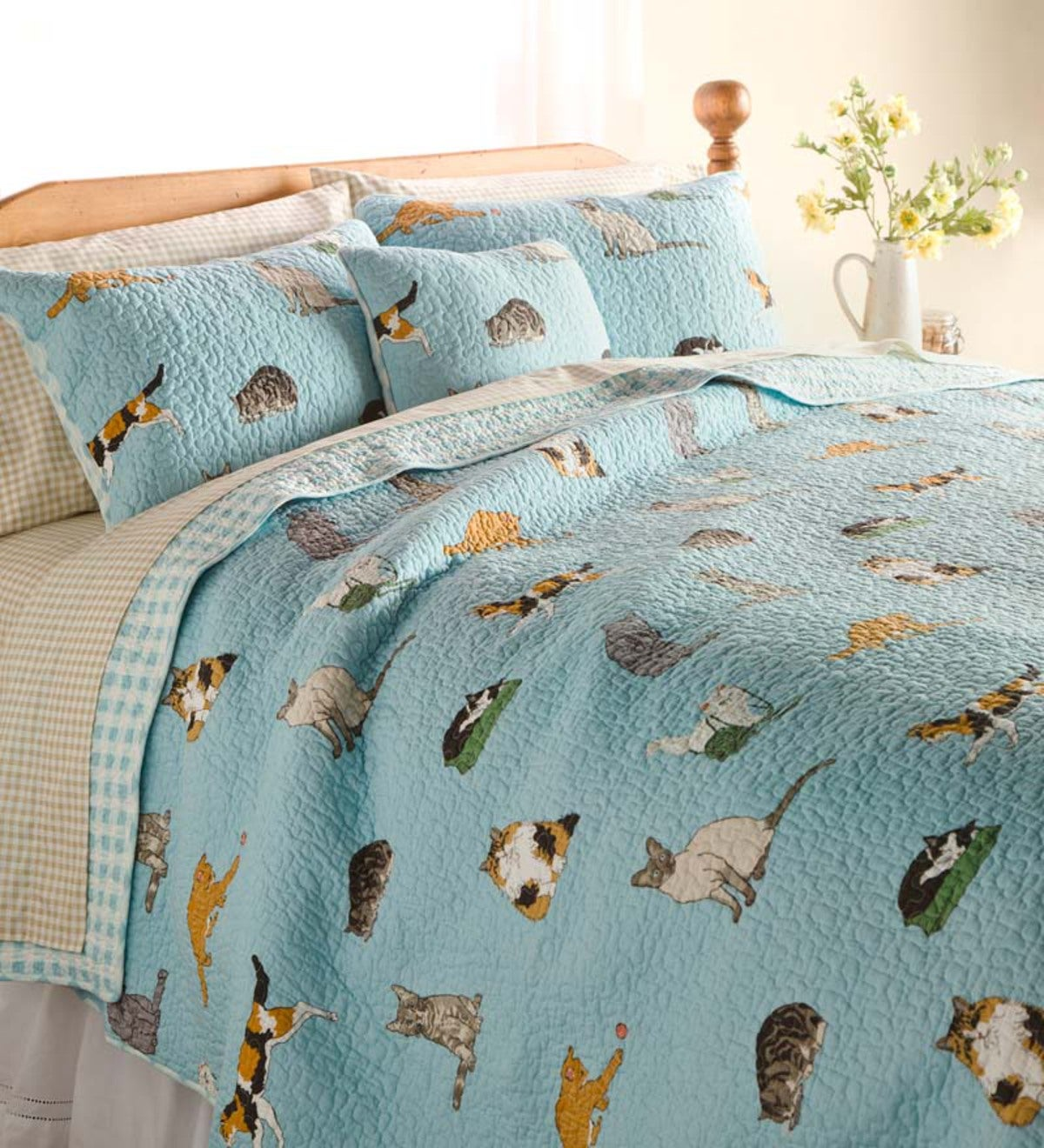 King Kitten Caboodle Quilted Bedding Set Plowhearth