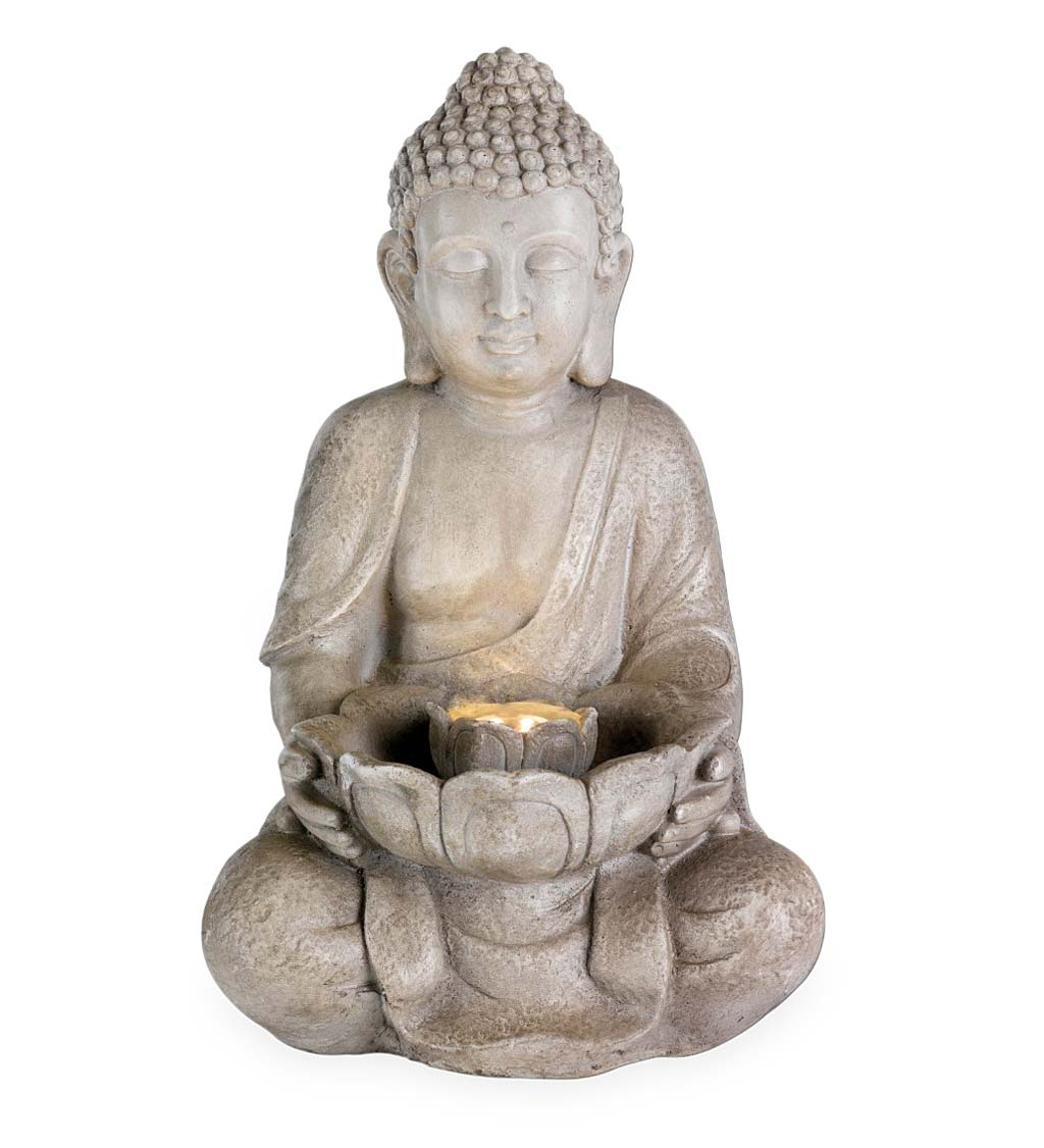 Indoor/Outdoor Lighted Buddha Water Fountain
