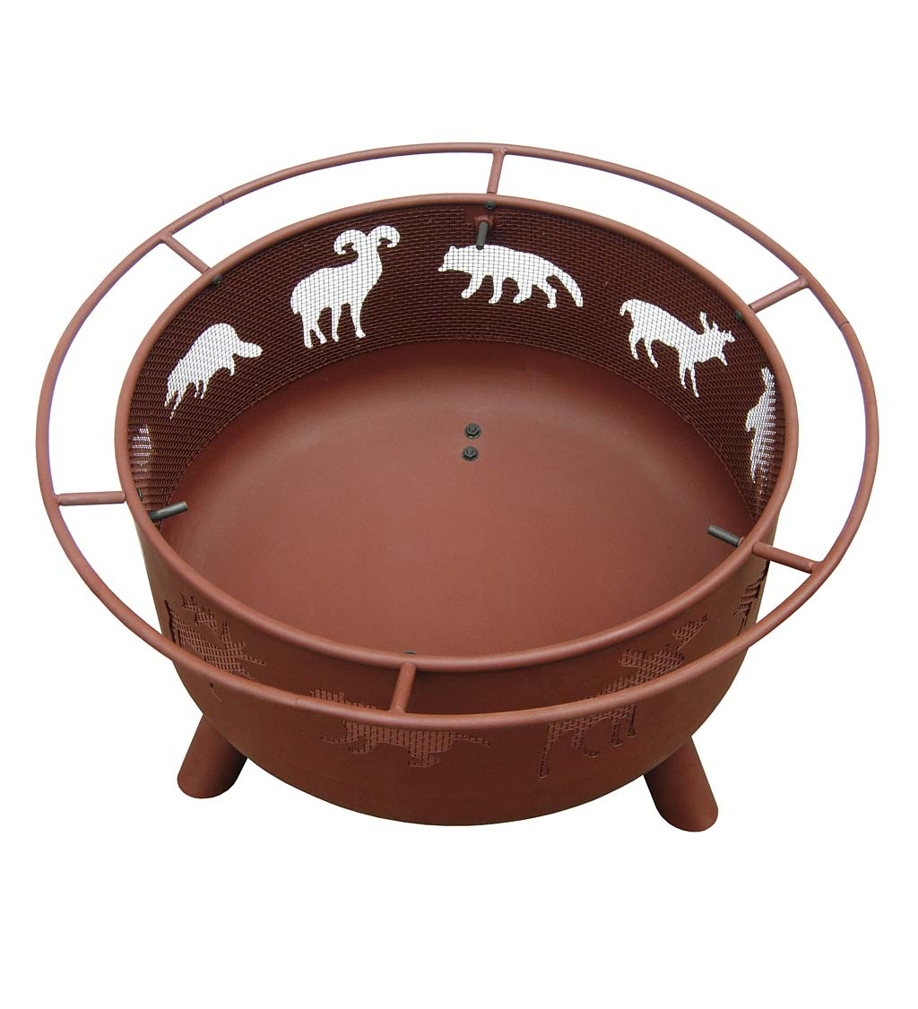 "Super Sky 24"" Wildlife Wood-Burning Fire Pit"