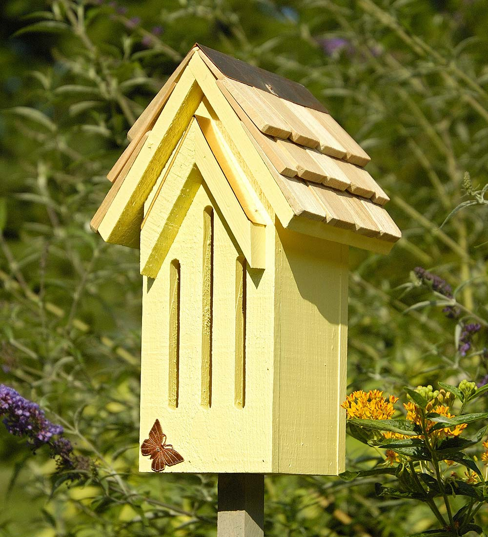 Mademoiselle Wood Butterfly House Shelter with Pole