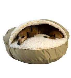 Cozy Cave Pet Bed, Small - Olive