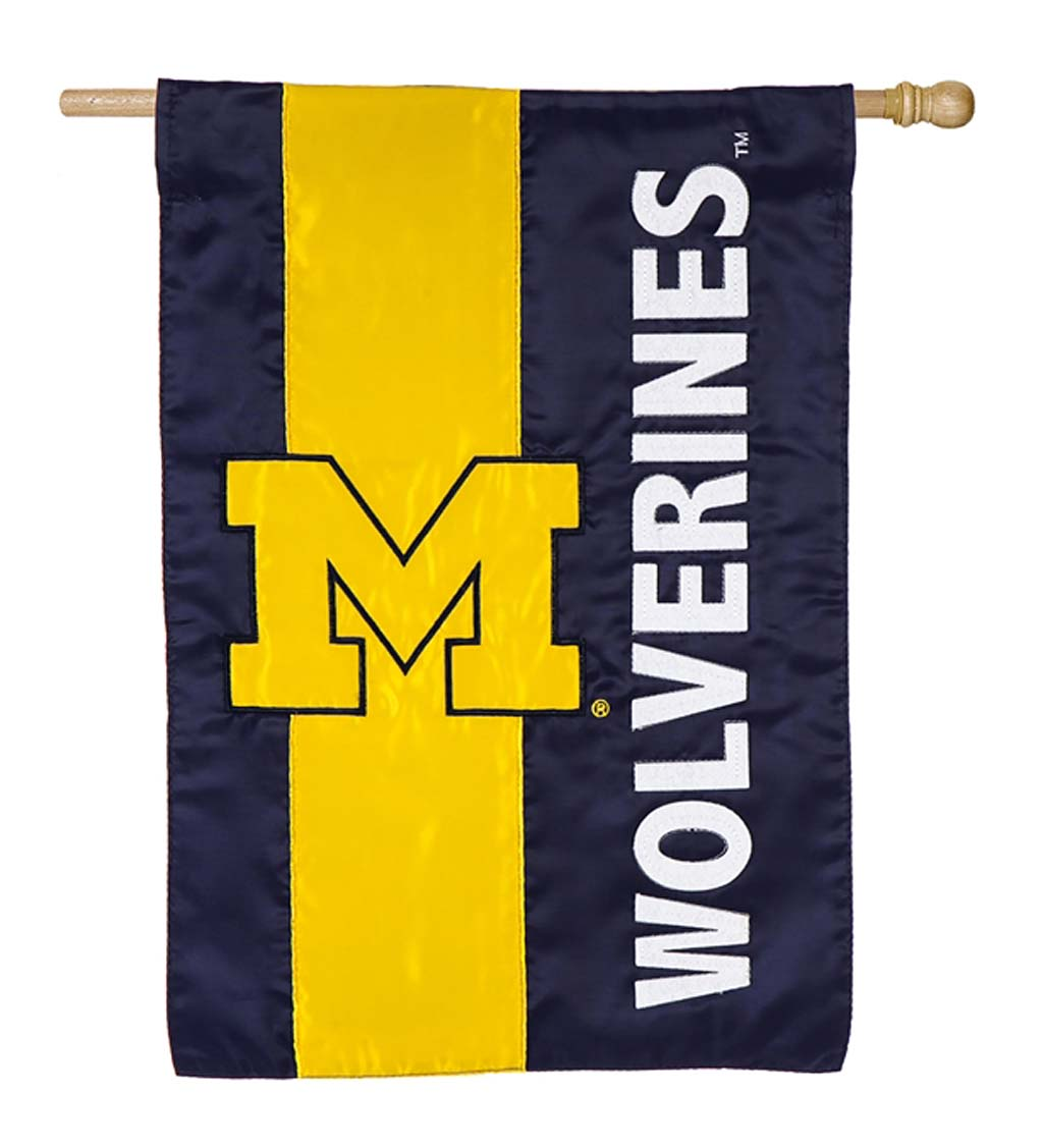 Double-Sided Embellished College Team Pride Applique House Flag swatch image