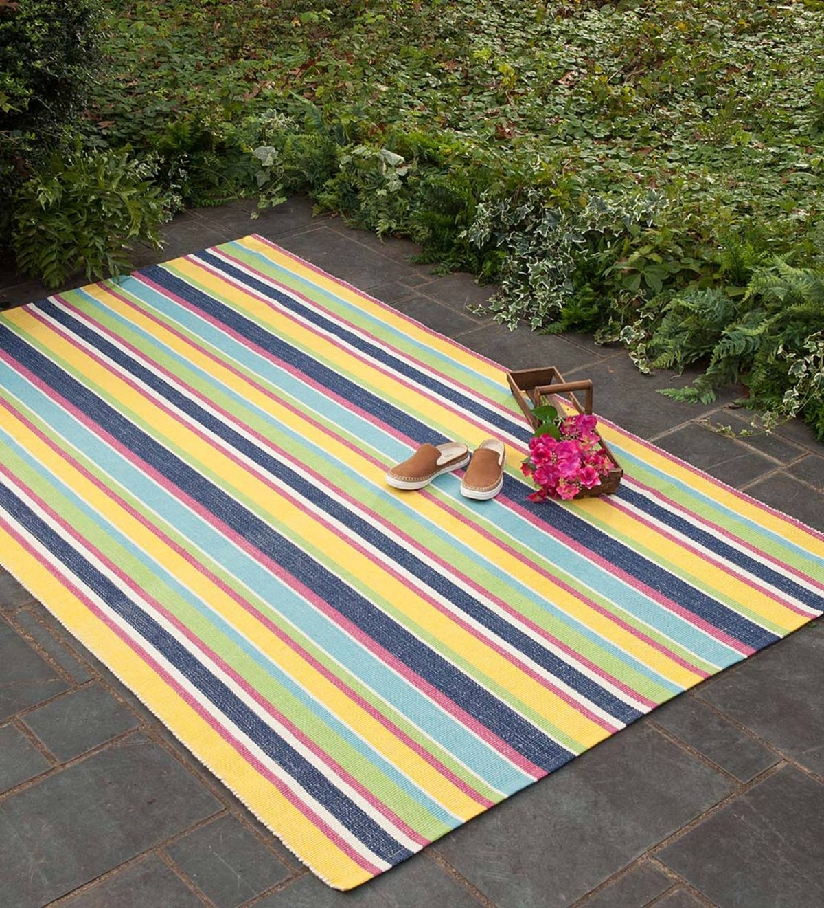 Indoor/Outdoor Summer Stripe Rug, 3' x 5' - Multi