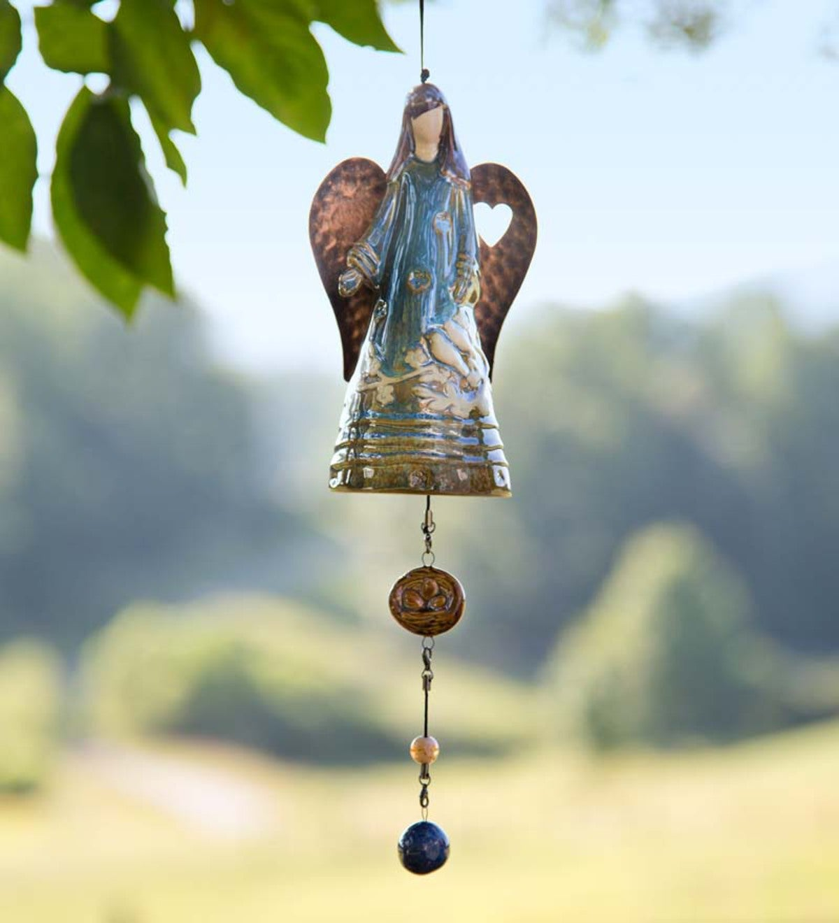 Porcelain Whispering Angel Bell Chime