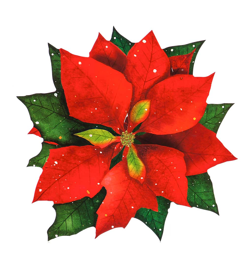 Vinyl-Coated Poinsettia Placemat, Set of 4
