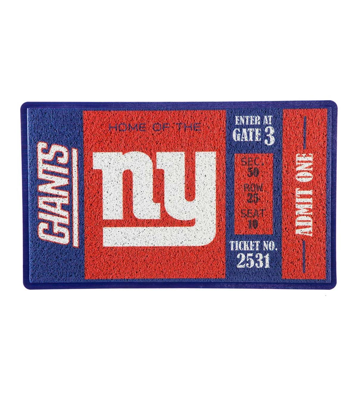 New York Giants Durable Turf Mat