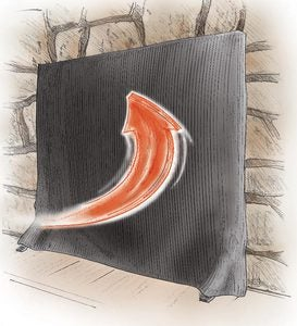 Pavenex® Fireplace Blanket Stops Overnight Heat Loss