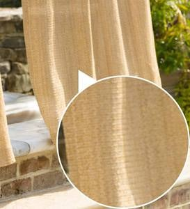 Indoor/Outdoor Raffia Weave Grommet Top Curtains