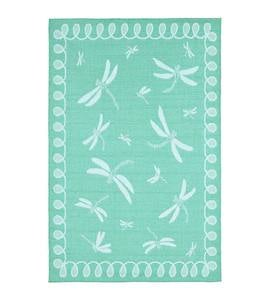 Indoor/Outdoor Polypropylene Rug - Spring Meadow Dragonflies