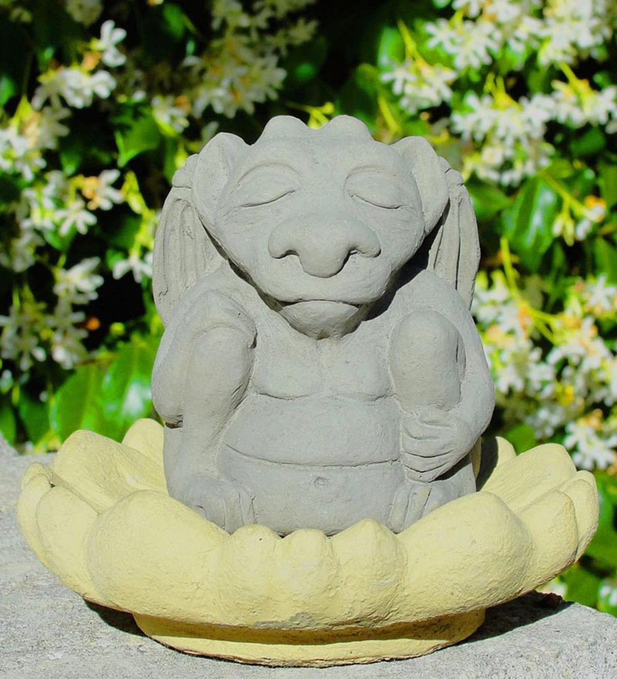 Large Meditating Gargoyle