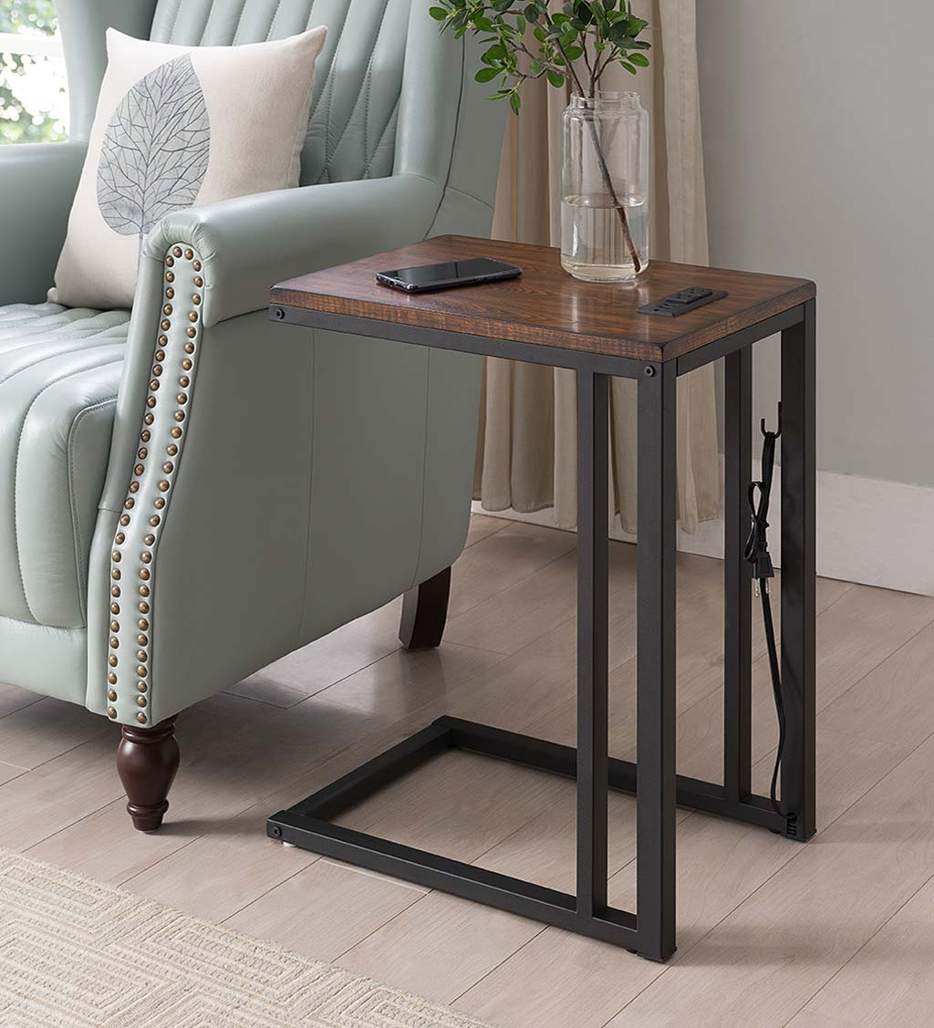 Pull-Up Table with Charging Station