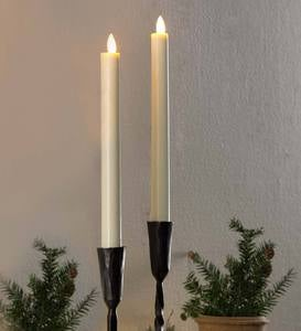 Flameless LED Taper Candles, Set of 2