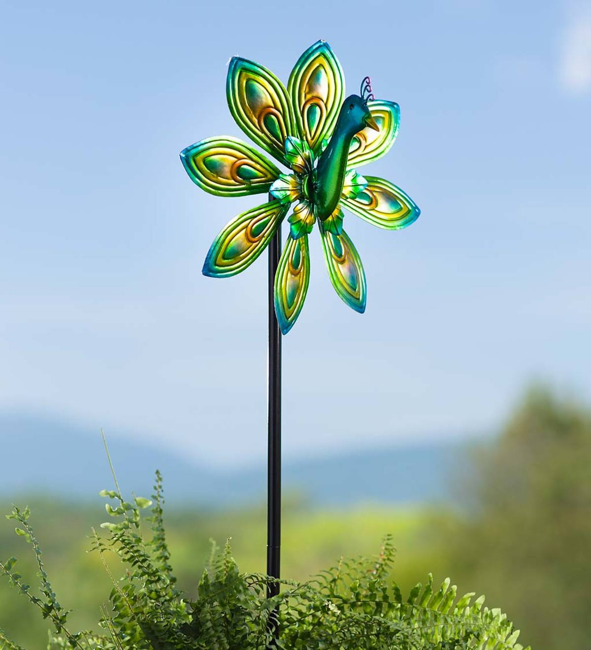Midi 3D Peacock Metal Wind Spinner