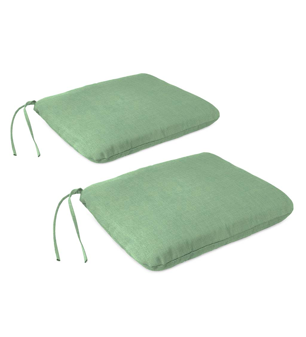 Indoor/Outdoor Classic Chair Cushion with Ties, Set of 2
