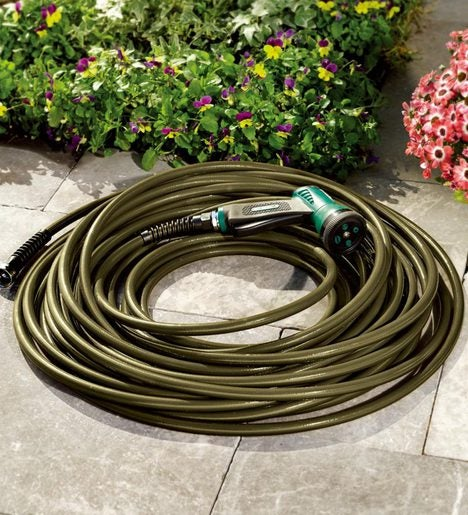 50' USA-Made Ultra Light Kink-Resistant Hose with Solid Brass Fittings
